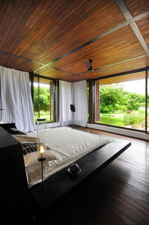 schönes schlafzimmer holz natur