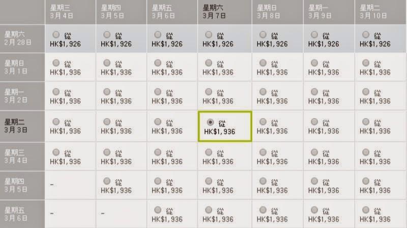 香港飛首爾來回機票$1,300起(連稅$1,936);