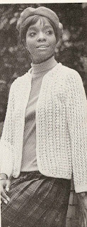 Knitting Pattern for Lace Eton Jacket, Vintage 1960s