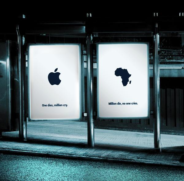Steve Jobs — Negative Street Shelter Ad
