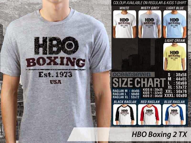 Kaos Olah Raga Sport HBO Boxing 2 distro ocean seven