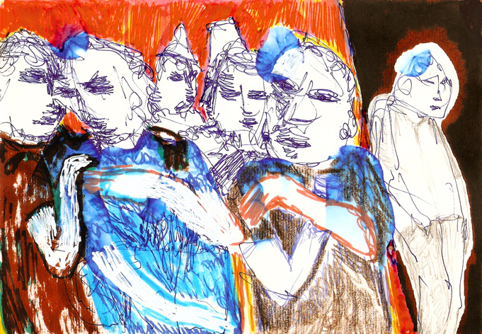 outsider (1993-2009, drawing by franka waaldijk)