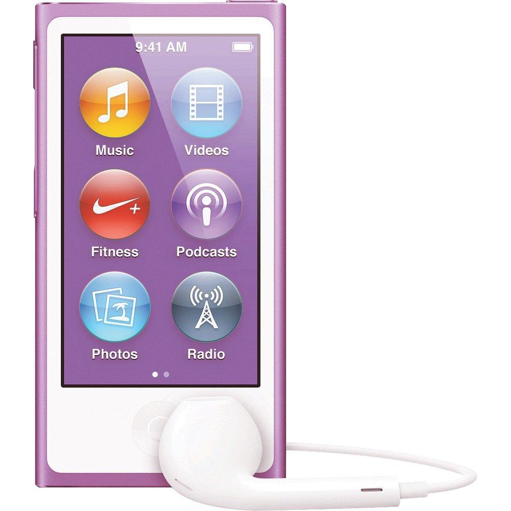 apple ipod nano 16gb purple 7th generation latest model. Black Bedroom Furniture Sets. Home Design Ideas