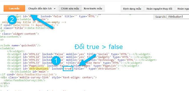 Cách ẩn chữ cung cấp bởi blogger cho blogspot