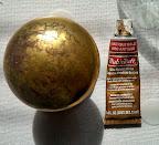 how to restore worn brass hardware