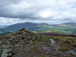Skiddaw from large cairn on Bleaberry Fell