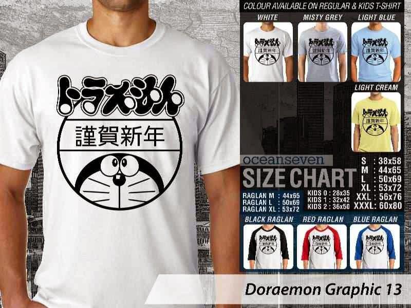 KAOS Doraemon 53 Manga Lucu distro ocean seven