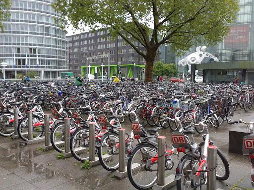 Bicycle parking at Heidelberg train station