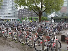 Bicycle parking at Heidelberg train station