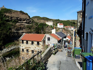 Entering the fishing village of Staithes