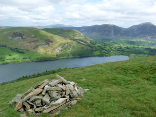 Loweswater from the lower cairn on Burnbank Fell.