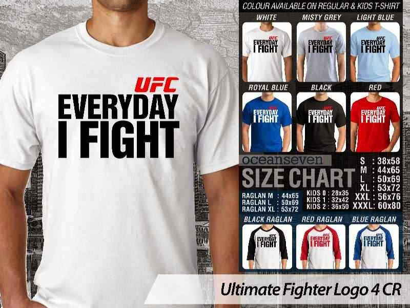Kaos UFC Ultimate Fighter UFC Every Day I Fight Logo 4 distro