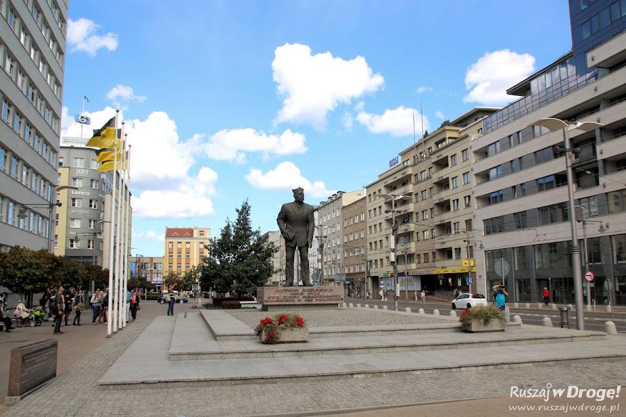 Antoni Abraham na Placu Kaszubskim