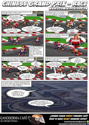 комикс MiniDrivers по гонке на Гран-при Китая 2013