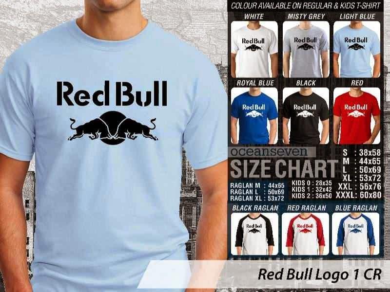 KAOS Red Bull Logo Otomotif distro ocean seven