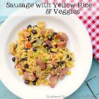 Sausage w/ Yellow Rice and Veggies