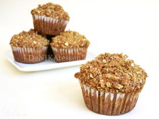 muffins de plátano y salvado de avena