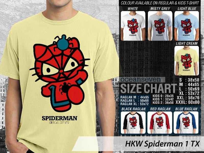 Jual Kaos kartun lucu Spiderman 1 distro ocean seven