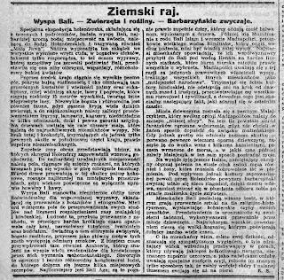 Artykuł z Gazety Bydgoskiej z 15 listopada 1925