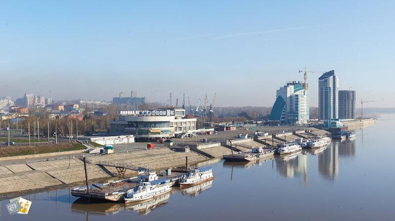 панорама Барнаула, панорама города, Речной вокзал, как сделать панораму