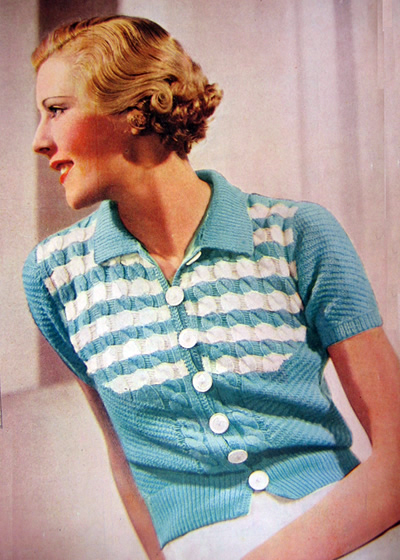 Free 1930's Knitting Pattern Pretty Summer Woolly