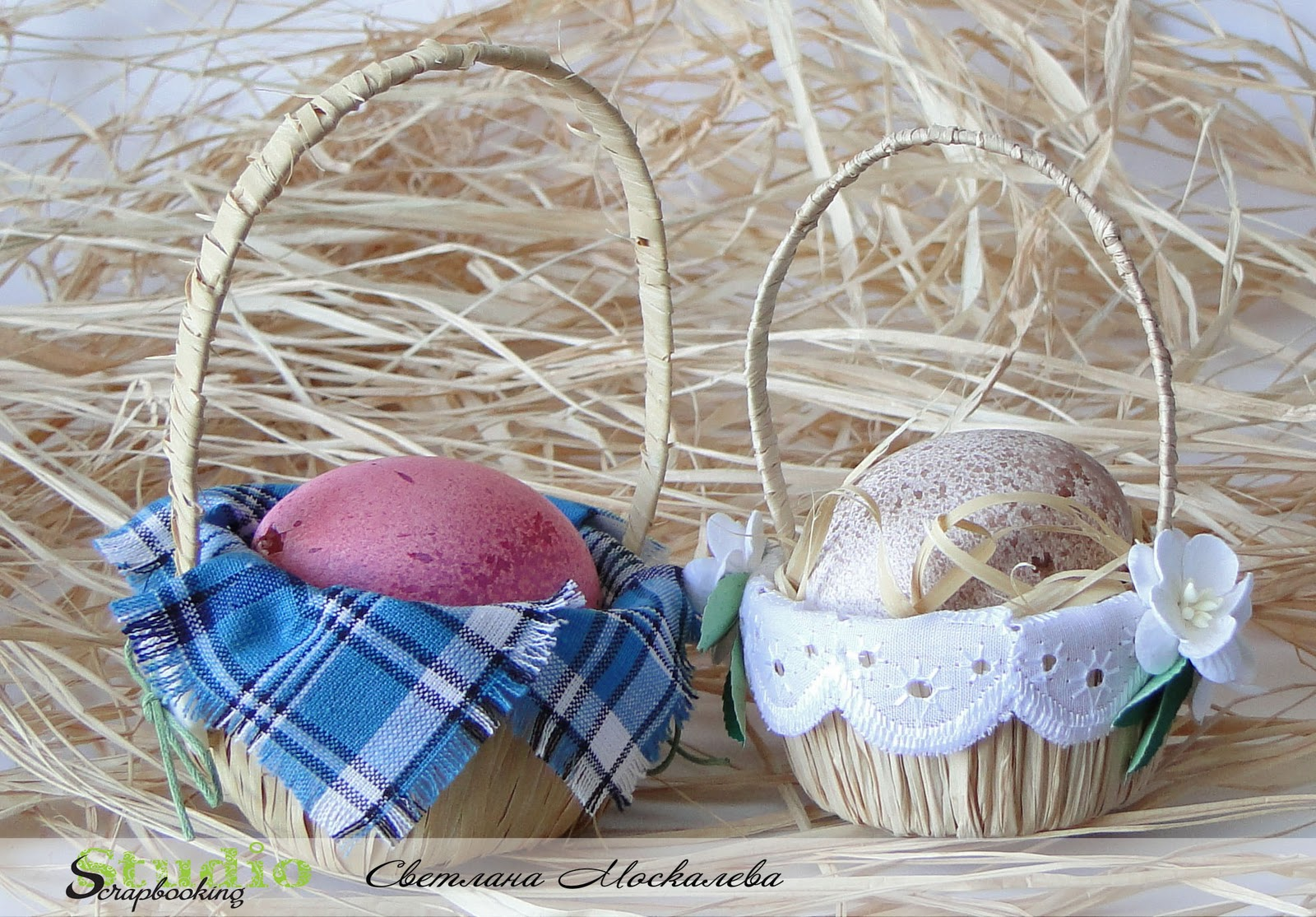 Корзинки для яиц пасхальные своими руками