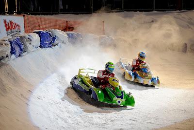 Фернандо Алонсо и Фелипе Масса - картинговая гонка по льду на Wrooom 2013