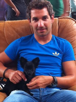 Тимо Глок с собачкой