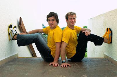 фотосессия Фернандо Алонсо и Ярно Трулли для Puma к началу сезона 2004