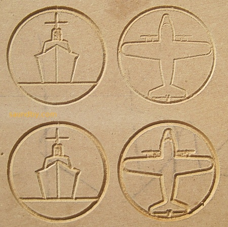 Decorative motifs for woodworking cut with microCarve A4 CNC