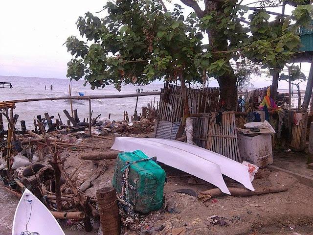 abrasi pantai di desa sabang subik polewali mandar