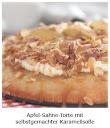 Apfel-Sahne-Torte mit selbstgemachter Karamellsoße