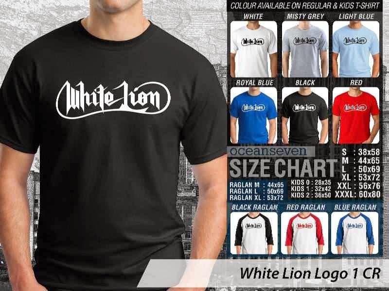 Jual KAOS White Lion 100 Rock Band Legends distro ocean seven