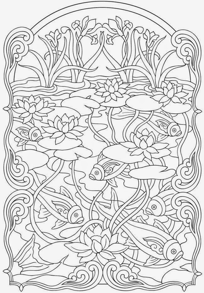 Adult Coloring Books Mandala Coloring Pages Book  - stress relieving coloring pages
