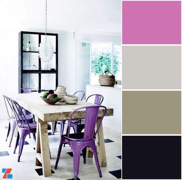 iZdesigner.com - Sử dụng màu tím trong thiết kế nội thất