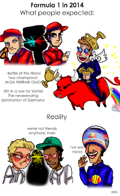 Формула-1 в 2014 - ожидания и реальность - комикс Iikku