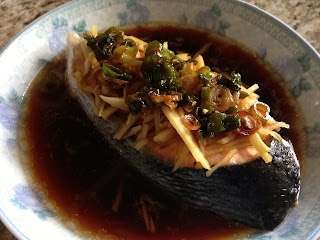Steamed Salmon Steak