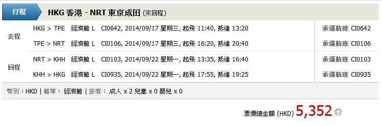 香港去東京/大阪