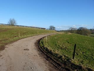 Farm track on the Calwich Abbey Estate.