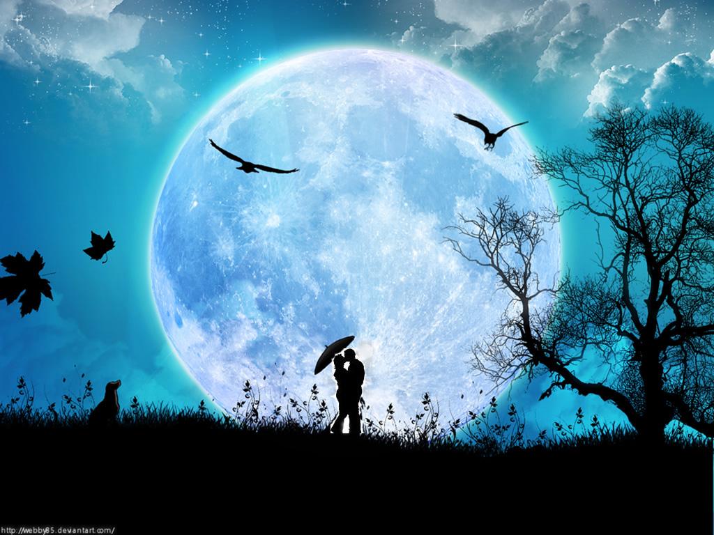 imagenes de amor con lunas}