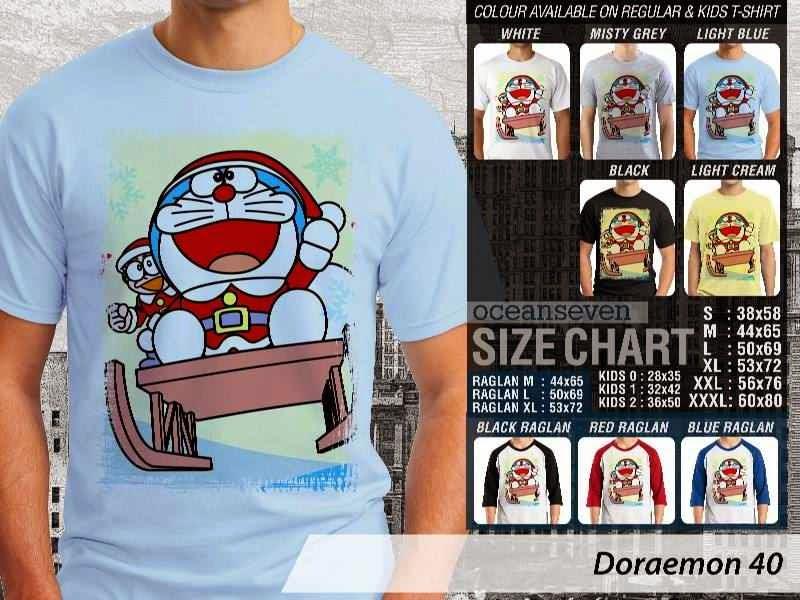 KAOS Doraemon 40 Manga Lucu distro ocean seven
