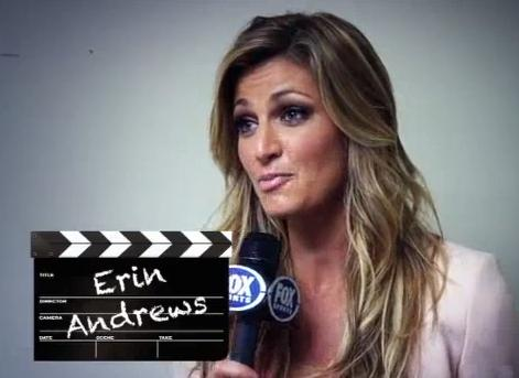 "Erin Andrews Reports From Behind The Scenes of ""The Gus Effect"" TV Spot"