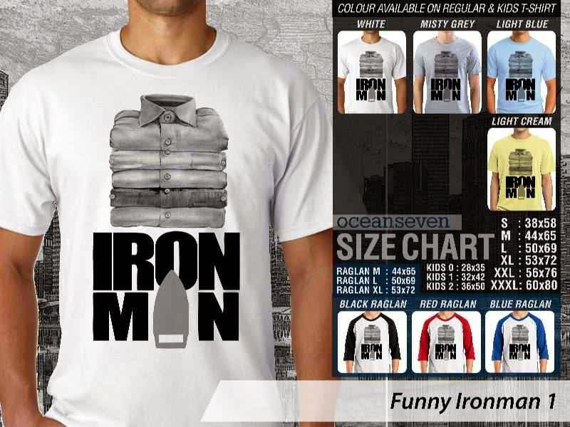 Kaos Iron Man Ironman Amazing Superhero distro ocean seven