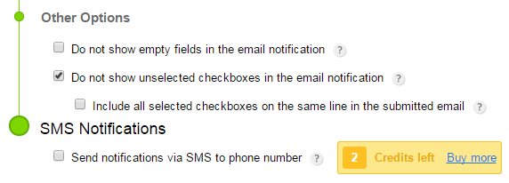123ContactForm do not show unselected checkboxes
