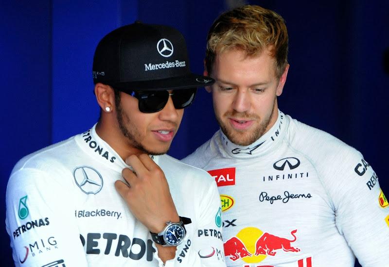 Льюис Хэмилтон и Себастьян Феттель на Гран-при Японии 2013