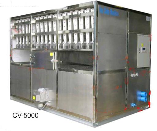 Mesin Pembuat Es Batu Kotak (Commercial Ice Cube Machine) Kapasitas 5000 Kg : CV-50