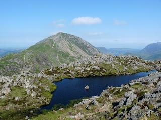 Summit Tarn on Haystacks with High Crag.
