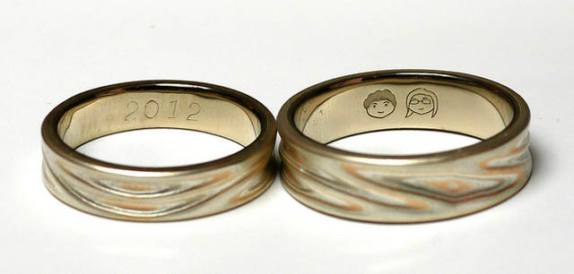 Dark Roasted Blend Unique Wedding Rings Amp Engraving Ideas