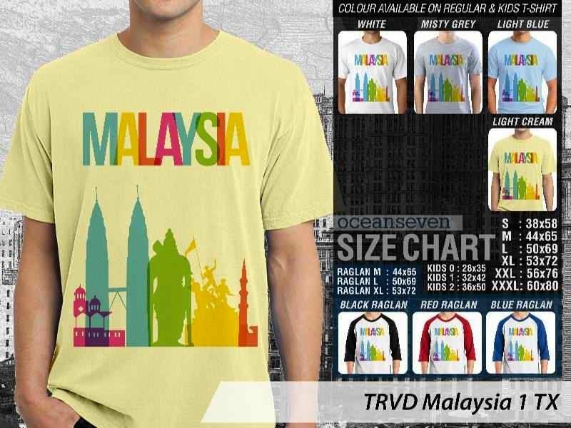 Jual Kaos wisata Malaysia 1 Malaysia distro ocean seven