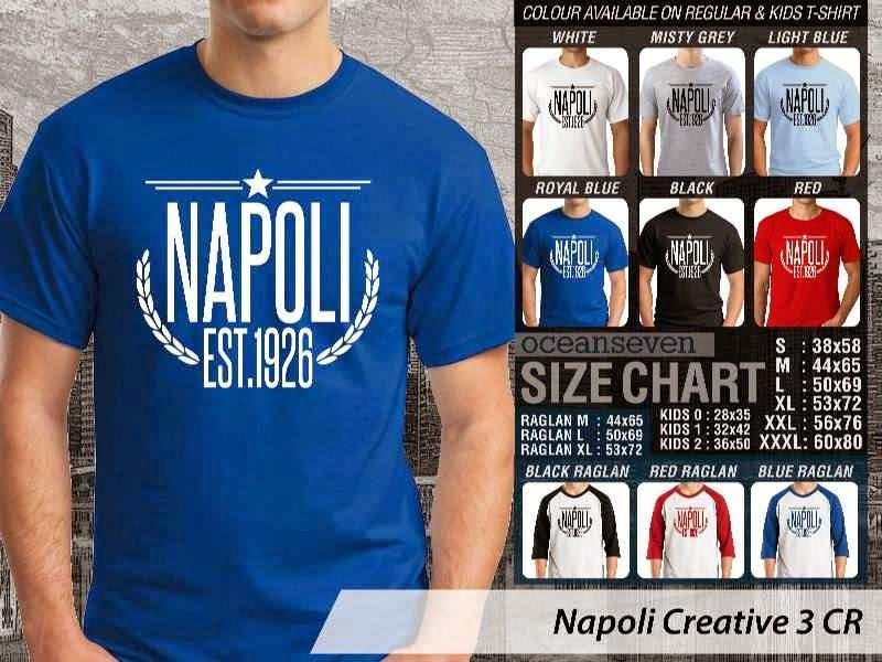 kaos bola bola Napoli 5 Lega Calcio distro ocean seven